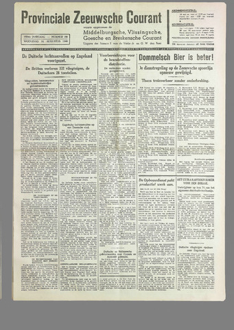 Provinciale Zeeuwse Courant 1940-08-14