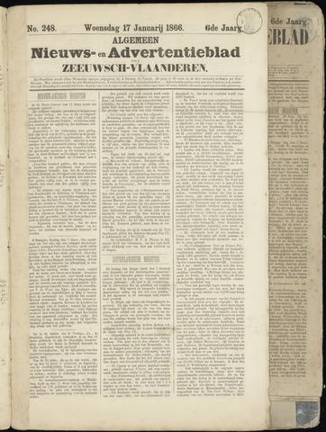 Ter Neuzensche Courant. Algemeen Nieuws- en Advertentieblad voor Zeeuwsch-Vlaanderen / Neuzensche Courant ... (idem) / (Algemeen) nieuws en advertentieblad voor Zeeuwsch-Vlaanderen 1866-01-17