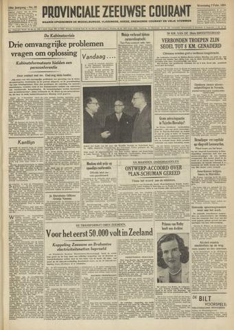 Provinciale Zeeuwse Courant 1951-02-07