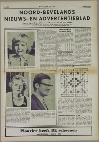 Noord-Bevelands Nieuws- en advertentieblad 1973-04-26