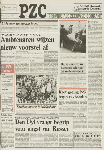 Provinciale Zeeuwse Courant 1983-11-02