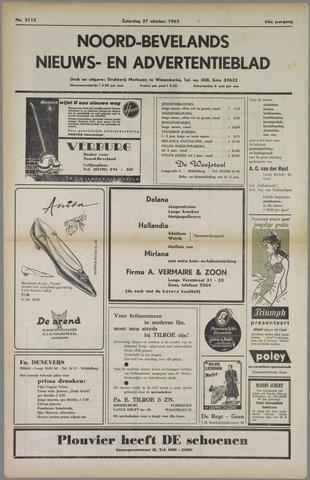 Noord-Bevelands Nieuws- en advertentieblad 1962-10-27