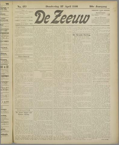 De Zeeuw. Christelijk-historisch nieuwsblad voor Zeeland 1916-04-27