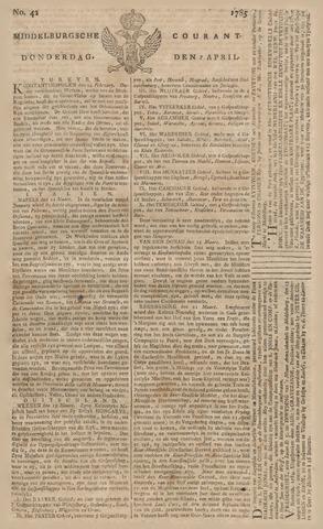 Middelburgsche Courant 1785-04-07