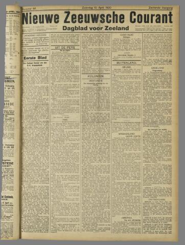 Nieuwe Zeeuwsche Courant 1920-04-10