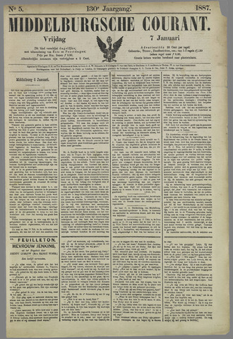 Middelburgsche Courant 1887-01-07