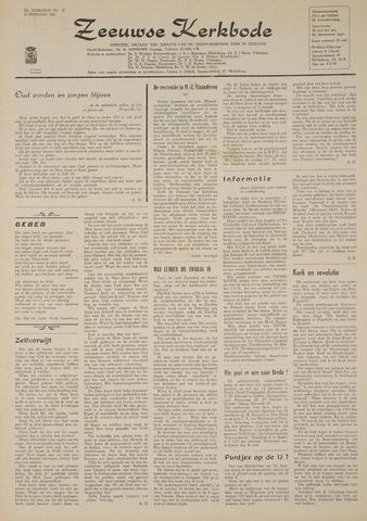 Zeeuwsche kerkbode, weekblad gewijd aan de belangen der gereformeerde kerken/ Zeeuwsch kerkblad 1969-02-13