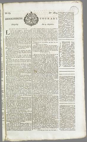 Zierikzeesche Courant 1814-08-09