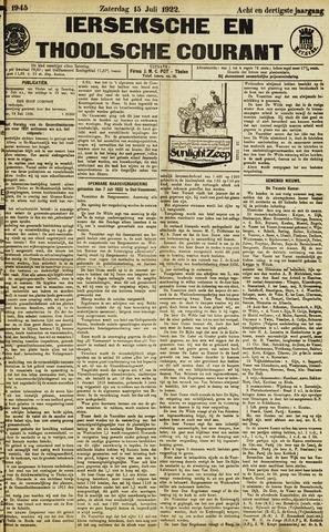 Ierseksche en Thoolsche Courant 1922-07-15