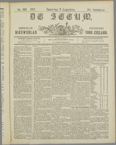 De Zeeuw. Christelijk-historisch nieuwsblad voor Zeeland 1912-08-03