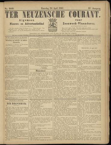 Ter Neuzensche Courant. Algemeen Nieuws- en Advertentieblad voor Zeeuwsch-Vlaanderen / Neuzensche Courant ... (idem) / (Algemeen) nieuws en advertentieblad voor Zeeuwsch-Vlaanderen 1897-04-24
