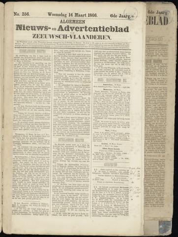 Ter Neuzensche Courant. Algemeen Nieuws- en Advertentieblad voor Zeeuwsch-Vlaanderen / Neuzensche Courant ... (idem) / (Algemeen) nieuws en advertentieblad voor Zeeuwsch-Vlaanderen 1866-03-14