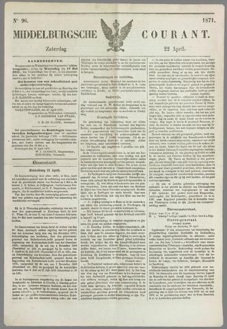Middelburgsche Courant 1871-04-22