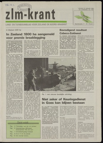 Zeeuwsch landbouwblad ... ZLM land- en tuinbouwblad 1993-01-22