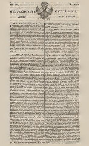 Middelburgsche Courant 1762-09-14
