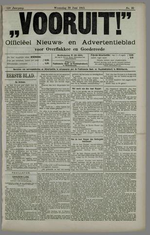 """""""Vooruit!""""Officieel Nieuws- en Advertentieblad voor Overflakkee en Goedereede 1915-06-30"""