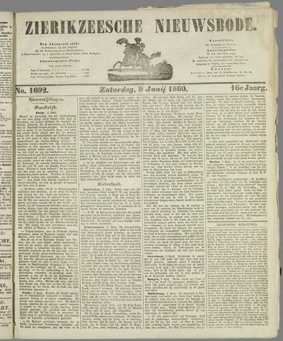 Zierikzeesche Nieuwsbode 1860-06-09