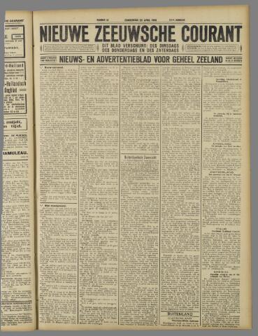 Nieuwe Zeeuwsche Courant 1926-04-22
