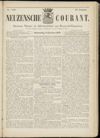 Ter Neuzensche Courant. Algemeen Nieuws- en Advertentieblad voor Zeeuwsch-Vlaanderen / Neuzensche Courant ... (idem) / (Algemeen) nieuws en advertentieblad voor Zeeuwsch-Vlaanderen 1876-10-04