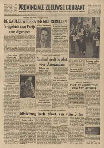 Provinciale Zeeuwse Courant 1958-10-24