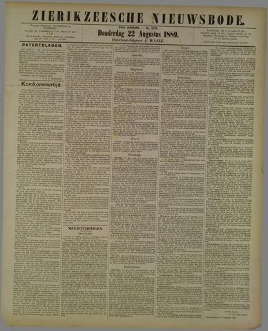 Zierikzeesche Nieuwsbode 1889-08-22