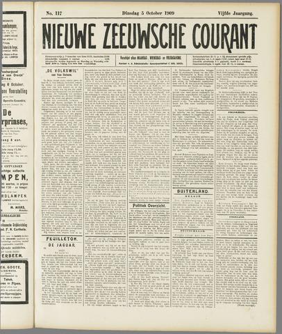 Nieuwe Zeeuwsche Courant 1909-10-05