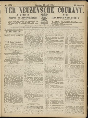 Ter Neuzensche Courant. Algemeen Nieuws- en Advertentieblad voor Zeeuwsch-Vlaanderen / Neuzensche Courant ... (idem) / (Algemeen) nieuws en advertentieblad voor Zeeuwsch-Vlaanderen 1900-06-23