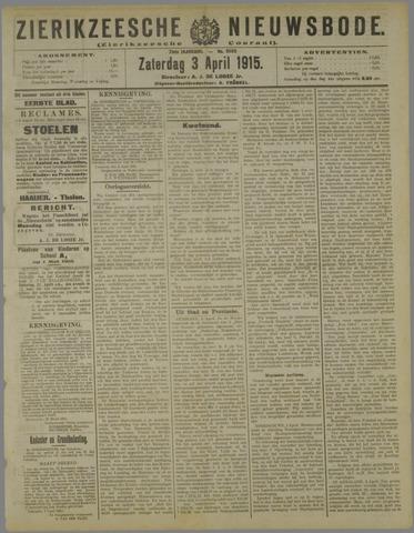 Zierikzeesche Nieuwsbode 1915-04-03
