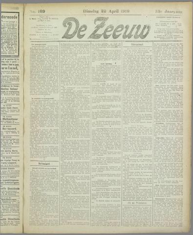 De Zeeuw. Christelijk-historisch nieuwsblad voor Zeeland 1919-04-22