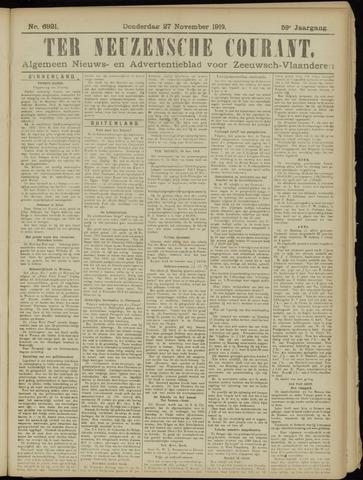Ter Neuzensche Courant. Algemeen Nieuws- en Advertentieblad voor Zeeuwsch-Vlaanderen / Neuzensche Courant ... (idem) / (Algemeen) nieuws en advertentieblad voor Zeeuwsch-Vlaanderen 1919-11-27