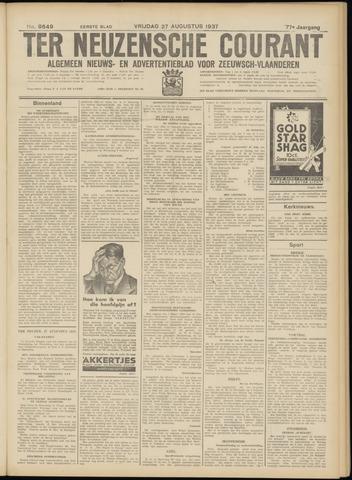 Ter Neuzensche Courant. Algemeen Nieuws- en Advertentieblad voor Zeeuwsch-Vlaanderen / Neuzensche Courant ... (idem) / (Algemeen) nieuws en advertentieblad voor Zeeuwsch-Vlaanderen 1937-08-27