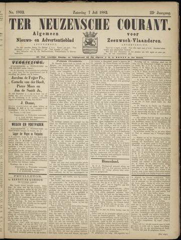 Ter Neuzensche Courant. Algemeen Nieuws- en Advertentieblad voor Zeeuwsch-Vlaanderen / Neuzensche Courant ... (idem) / (Algemeen) nieuws en advertentieblad voor Zeeuwsch-Vlaanderen 1883-07-07