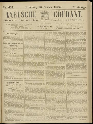 Axelsche Courant 1892-10-26