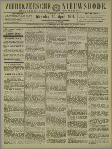 Zierikzeesche Nieuwsbode 1911-04-10