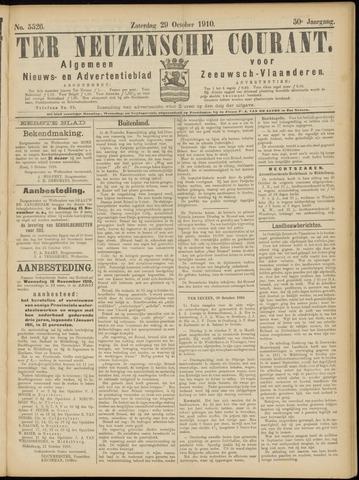 Ter Neuzensche Courant. Algemeen Nieuws- en Advertentieblad voor Zeeuwsch-Vlaanderen / Neuzensche Courant ... (idem) / (Algemeen) nieuws en advertentieblad voor Zeeuwsch-Vlaanderen 1910-10-29