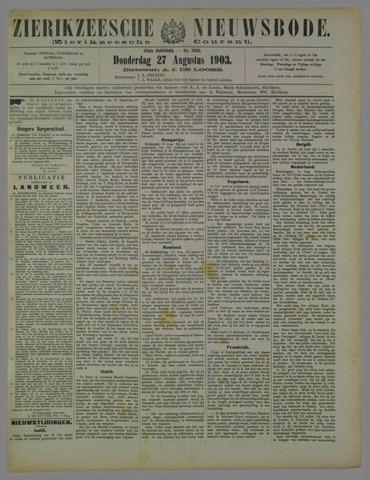 Zierikzeesche Nieuwsbode 1903-08-27