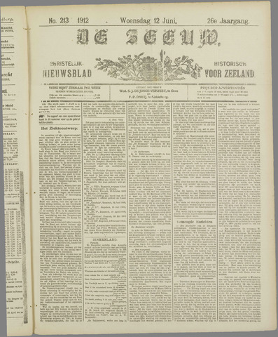 De Zeeuw. Christelijk-historisch nieuwsblad voor Zeeland 1912-06-12