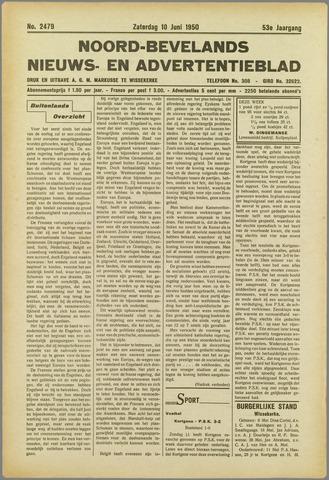 Noord-Bevelands Nieuws- en advertentieblad 1950-06-10