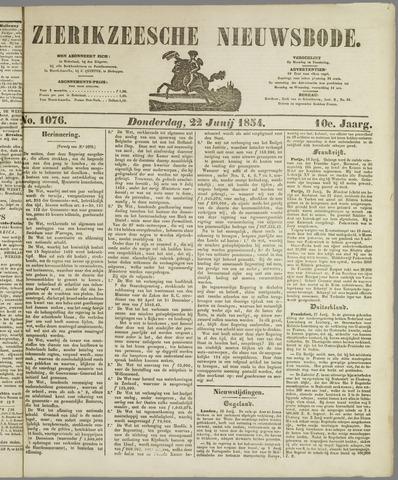 Zierikzeesche Nieuwsbode 1854-06-22