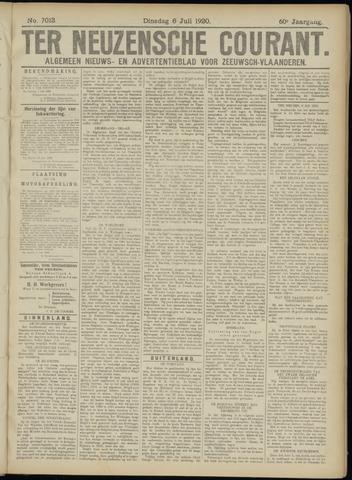 Ter Neuzensche Courant. Algemeen Nieuws- en Advertentieblad voor Zeeuwsch-Vlaanderen / Neuzensche Courant ... (idem) / (Algemeen) nieuws en advertentieblad voor Zeeuwsch-Vlaanderen 1920-07-06