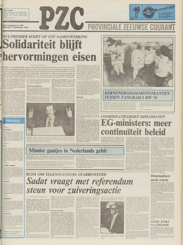 Provinciale Zeeuwse Courant 1981-09-07
