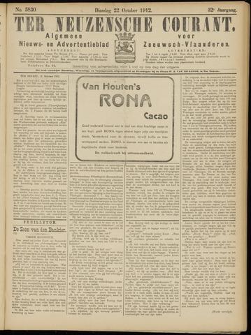 Ter Neuzensche Courant. Algemeen Nieuws- en Advertentieblad voor Zeeuwsch-Vlaanderen / Neuzensche Courant ... (idem) / (Algemeen) nieuws en advertentieblad voor Zeeuwsch-Vlaanderen 1912-10-22