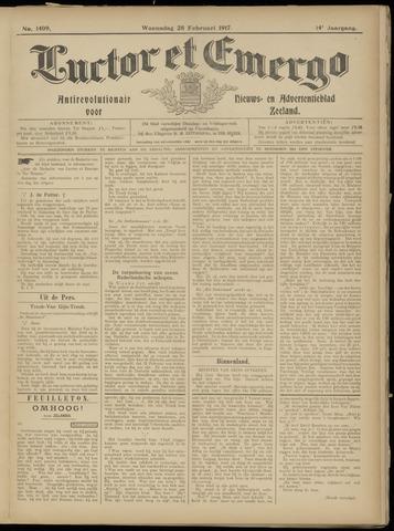 Luctor et Emergo. Antirevolutionair nieuws- en advertentieblad voor Zeeland / Zeeuwsch-Vlaanderen. Orgaan ter verspreiding van de christelijke beginselen in Zeeuwsch-Vlaanderen 1917-02-28