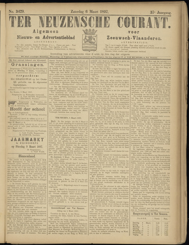 Ter Neuzensche Courant. Algemeen Nieuws- en Advertentieblad voor Zeeuwsch-Vlaanderen / Neuzensche Courant ... (idem) / (Algemeen) nieuws en advertentieblad voor Zeeuwsch-Vlaanderen 1897-03-06