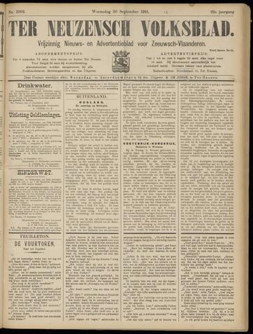 Ter Neuzensch Volksblad. Vrijzinnig nieuws- en advertentieblad voor Zeeuwsch- Vlaanderen / Zeeuwsch Nieuwsblad. Nieuws- en advertentieblad voor Zeeland 1911-09-20