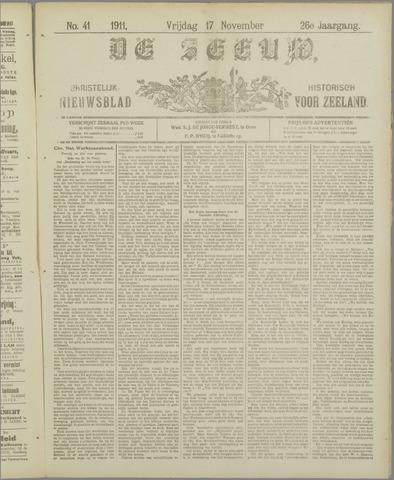 De Zeeuw. Christelijk-historisch nieuwsblad voor Zeeland 1911-11-17