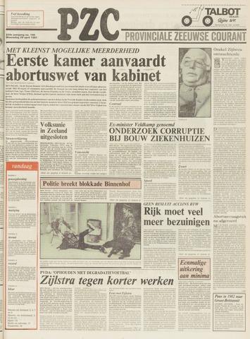Provinciale Zeeuwse Courant 1981-04-29