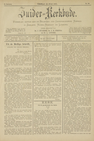 Zuider Kerkbode, Weekblad gewijd aan de belangen der gereformeerde kerken in Zeeland, Noord-Brabant en Limburg. 1897-07-23