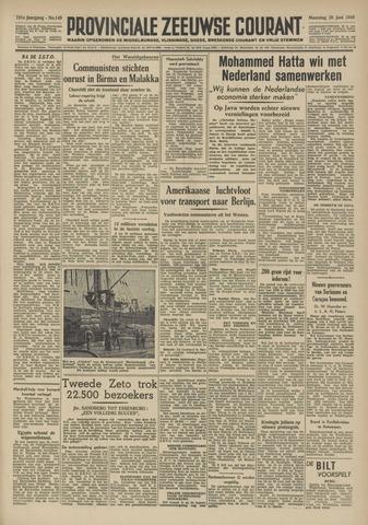 Provinciale Zeeuwse Courant 1948-06-28