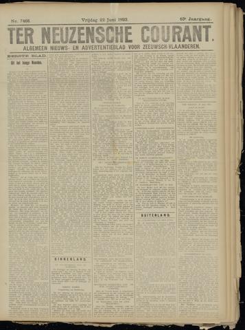 Ter Neuzensche Courant. Algemeen Nieuws- en Advertentieblad voor Zeeuwsch-Vlaanderen / Neuzensche Courant ... (idem) / (Algemeen) nieuws en advertentieblad voor Zeeuwsch-Vlaanderen 1923-06-22